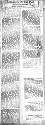 (Thumbnail) Reminders of the Past - newspaper clipping relating to sale of Larkin farm in Queenston Heights (image/jpeg)