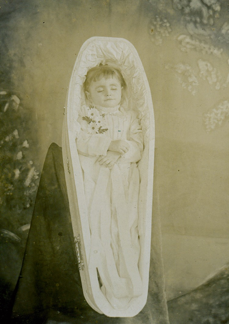 Stoner Family ancestor - name unknown - baby in casket (image/jpeg)