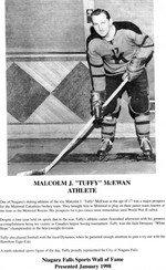 (Thumbnail) Niagara Falls Sports Wall of Fame - Malcolm J (Tuffy) McEwan Athlete era 1931 - 1950 (image/jpeg)