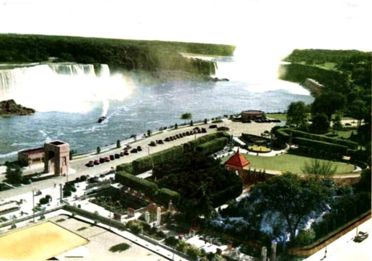 Aerial View Of American And Horseshoe Falls Oakes Garden