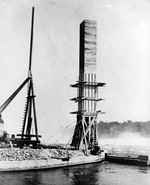 (Thumbnail) Water tower built and ready to be toppled into the Niagara River to form a weir (image/jpeg)