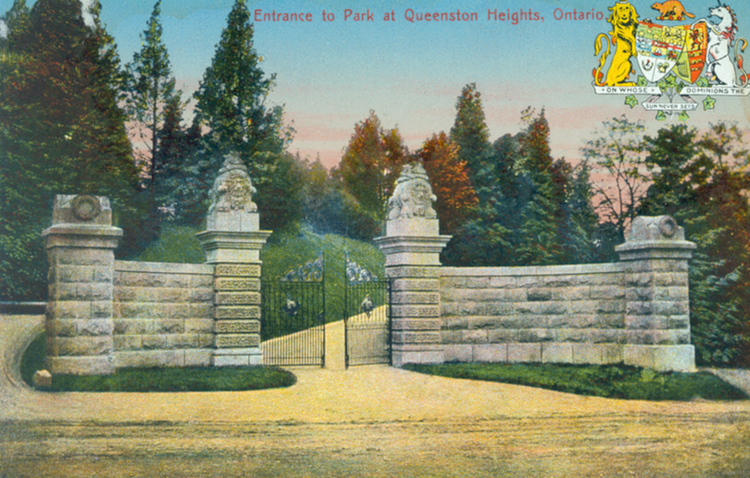 Entrance to park at Queenston Heights Ontario (image/jpeg)