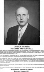(Thumbnail) Niagara Falls Sports Wall of Fame - Gordon Johnson Athlete Baseball & Football (image/jpeg)