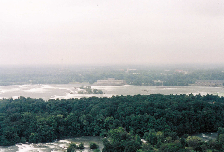 Aerial of the Upper Niagara River and Goat Island taken from the Flight of Angels Balloon Ride (image/jpeg)