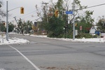 (Thumbnail) Aftermath of Fort Erie Snowstorm, October 12, 2006 - looking north west at corner of Central Ave. &amp; Bertie St. (image/jpeg)