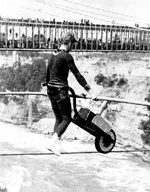 (Thumbnail) Calverly the world's champion crossing a cable over the rapids, Niagara U.S.A. (image/jpeg)