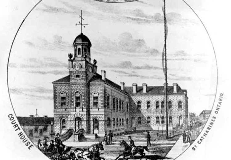 Artists sketch of  Court House in St. Catharines (image/jpeg)