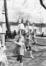 (Thumbnail) Girls Drill Team marching in Parade through Queen Victoria Park, American Falls in background (image/jpeg)
