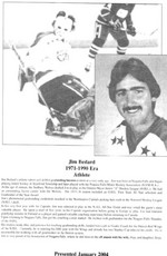 (Thumbnail) Niagara Falls Sports Wall of Fame - Jim Bedard Athlete Hockey 1971 - 1990 era (image/jpeg)