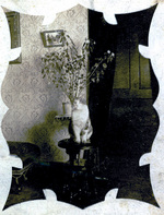 (Thumbnail) Stoner Family ancestoral home - location nor known - cat posing on a piano stool (image/jpeg)
