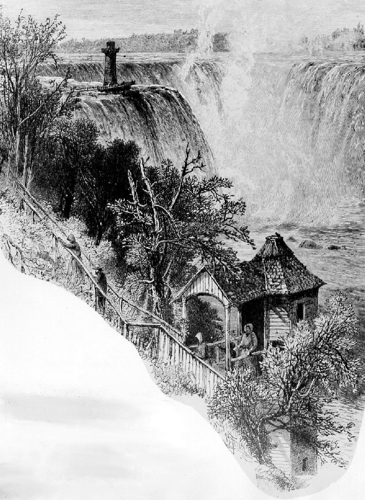 Artist's rendering of Biddle Stairs at Cave of the Winds, Terrapin Point and Tower (image/jpeg)