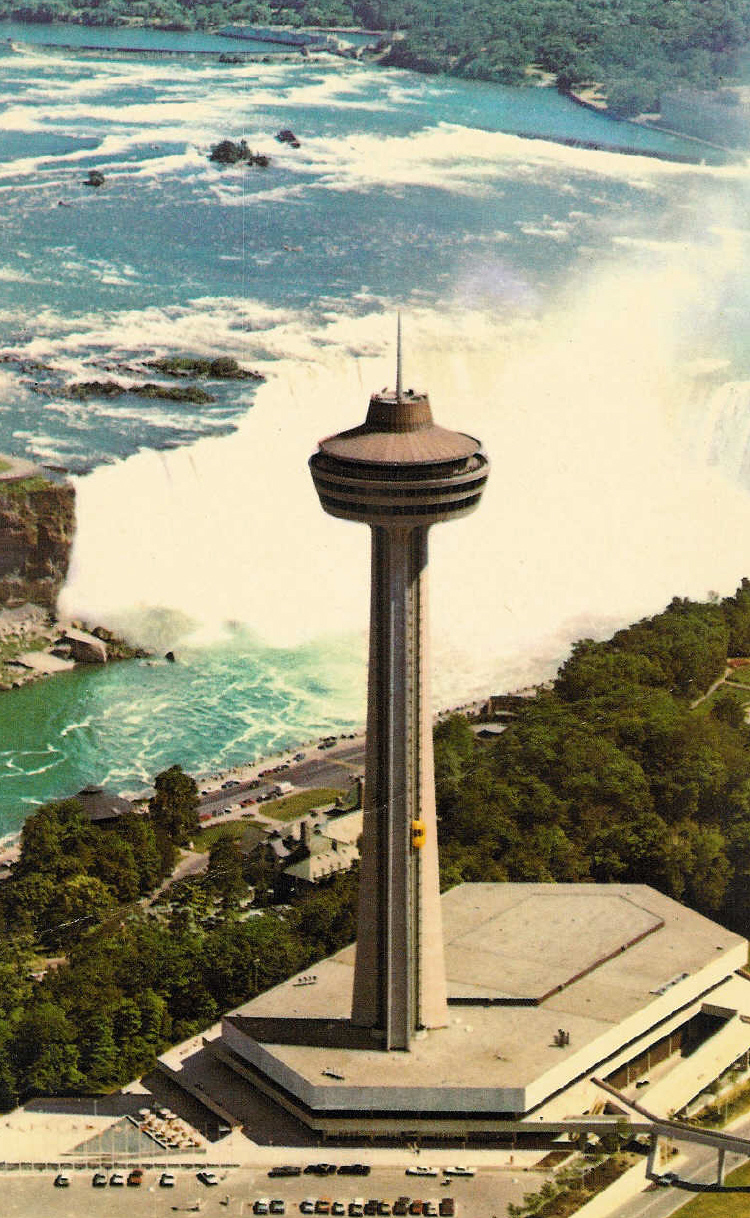 Aerial of Skylon Tower and the Horseshoe Falls (image/jpeg)