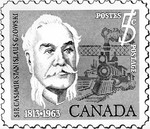 (Thumbnail) Colonel Sir Casimir Gzowski first Chairman of the Niagara Parks Commission - postage stamp issued by the Government of Canada (image/jpeg)