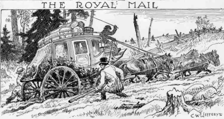 """An Artists Sketch of """" The Royal Mail """" Stage Coach (image/jpeg)"""