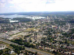 (Thumbnail) Aerial view of the City of Niagara Falls Ontario seen from a helicopter (image/jpeg)