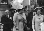 (Thumbnail) Judy LaMarsh Secretary of State for Canada with Queen Elizabeth II, Prince Phillip Duke of Edinburgh and former Prime Minister of Canada Lester B. Pearson (image/jpeg)