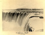 (Thumbnail) Early photograph of the frozen falls showing Street's Mills in background (image/jpeg)