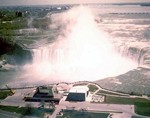 (Thumbnail) Aerial view of the Horseshoe Falls, Table Rock, and the International Control Dam - 1976 (image/jpeg)