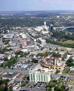 (Thumbnail) Aerial view of the City of Niagara Falls Ontarioseen from a helicopter (image/jpeg)