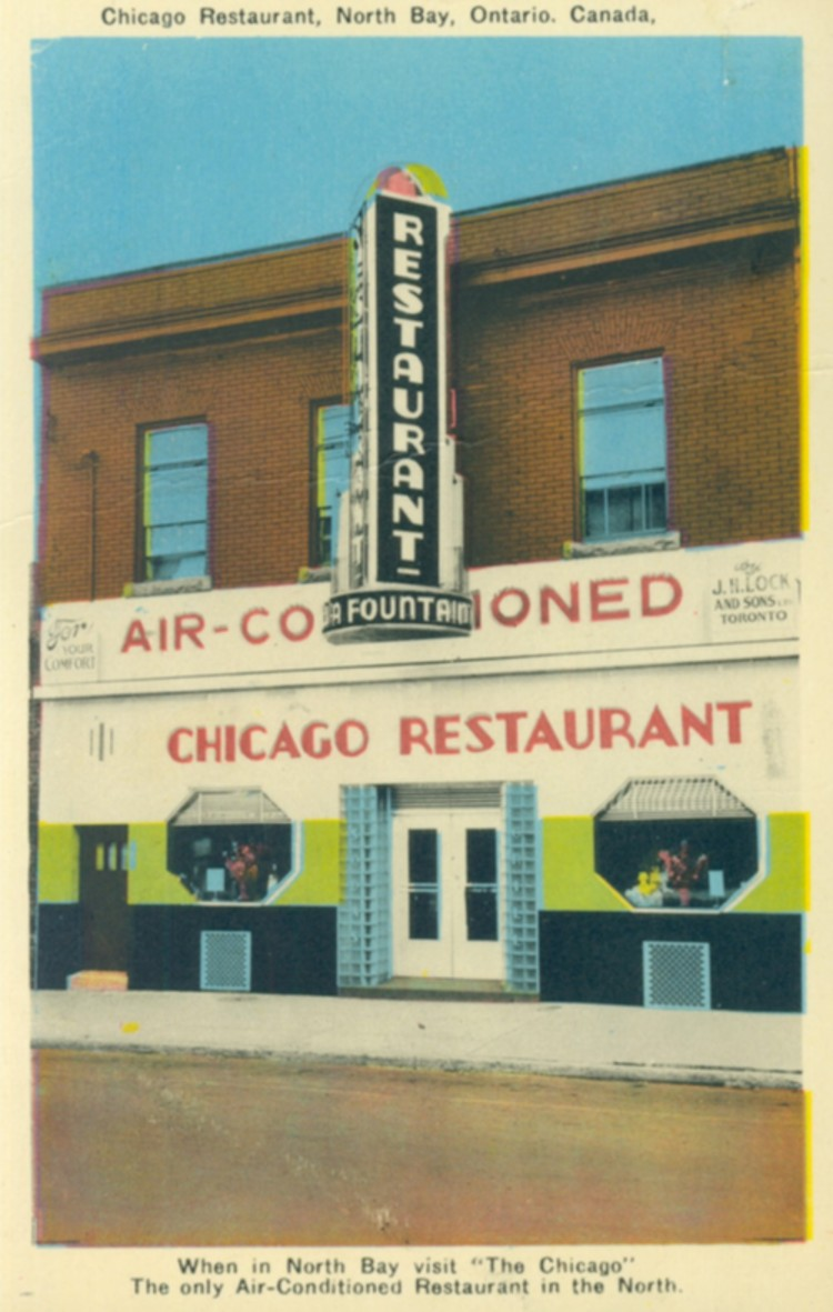 """When in North Bay visit """"The Chicago"""" the only air-conditioned restaurant in the North (image/jpeg)"""