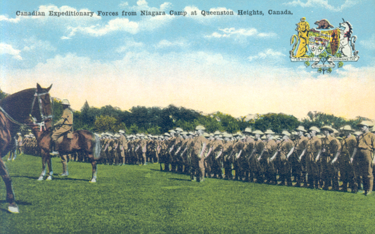 Canadian Expeditionary Forces From Niagara Camp, at Queenston Heights, Canada (image/jpeg)