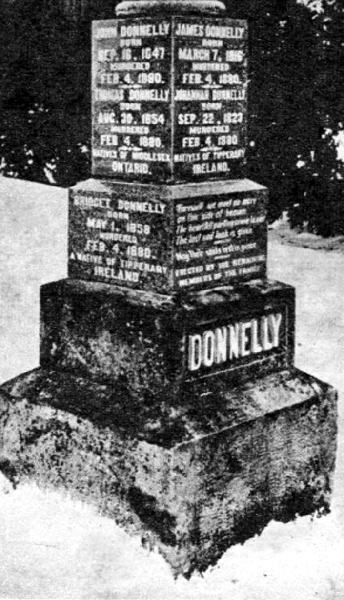 First Donnelly Family Headstone Lucan Ontario (image/jpeg)