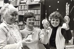 (Thumbnail) Chippawa  Branch Library Staff holding Christmas decorations (image/jpeg)