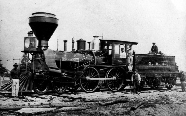 Locomotive Adam Brown which made the first trip from Grey & Bruce Railroad to Clifton (image/jpeg)