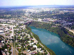 (Thumbnail) Aerial view of the lower Niagara River, Niagara Falls NY and Niagara Falls Ontario (image/jpeg)