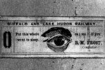 (Thumbnail) Conductor's card, Great Western Railway  - belonging to R M Frost (image/jpeg)