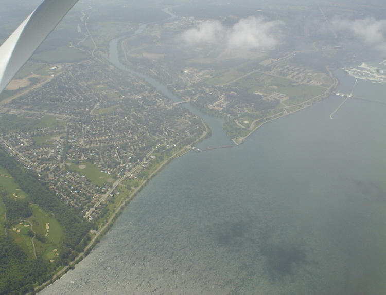 Aerial View of Chippawa, the Mouth of Chippawa Creek, and the Upper Niagara River (image/jpeg)