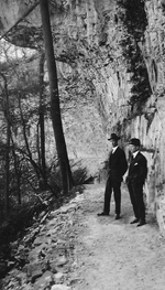 (Thumbnail) Messrs Sloan & Mann on the Pathway Under the Overhang of Wintergreen Terrace (image/jpeg)