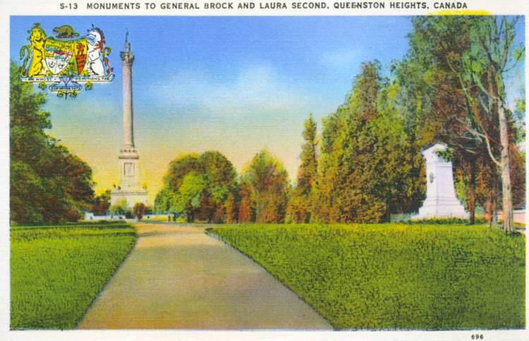 Monuments to General Brock and Laura Second <i>[sic]</i>, Queenston Heights, Canada (image/jpeg)