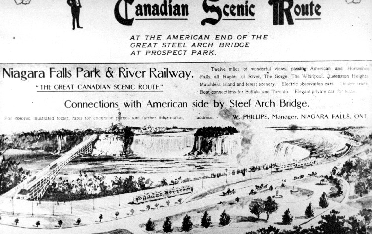 Advertising for the Great Canadian Scenic Route - Niagara Falls Park & River Railway (image/jpeg)